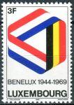 (1969) MiNr. 793 - ** - Lucembursko - 25. výročí podepsání Celní úmluvy Beneluxu