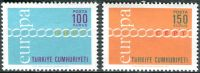 (1971) MiNr. 2210 - 2211 ** - Turecko - Europa
