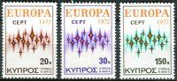 (1972) MiNr. 374 - 376 ** - Kypr (řecký) - Europa