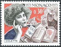 (1973) MiNr. 1076 ** - Monako - 100. narozeniny Gabriely Sidonie Colette