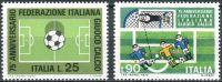 (1973) MiNr. 1404 - 1405 ** - Itálie - 75 let italská fotbalová federace