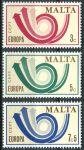 (1973) MiNr. 472 - 474 ** - Malta - EUROPA