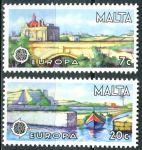 (1977) MiNr. 554 - 555 ** - Malta - EUROPA - krajiny