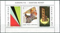 (1993) MiNr. 1778 - 1780 ** - Švédsko - 3-bl - Europa: Současné umění