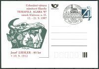 (1997) CDV 22 O - P 26 - příl. raz. Agara - Celostátní výstava námětové filatelie Temafila AGARA 97