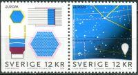 (2009) MiNr. 2687 - 2688 ** - Dl + Dr - Švédsko - Europa: astronomie