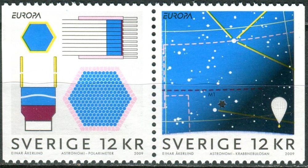 (2009) MiNr. 2687 - 2688 ** - Švédsko - Europa: astronomie - Dl + Dr