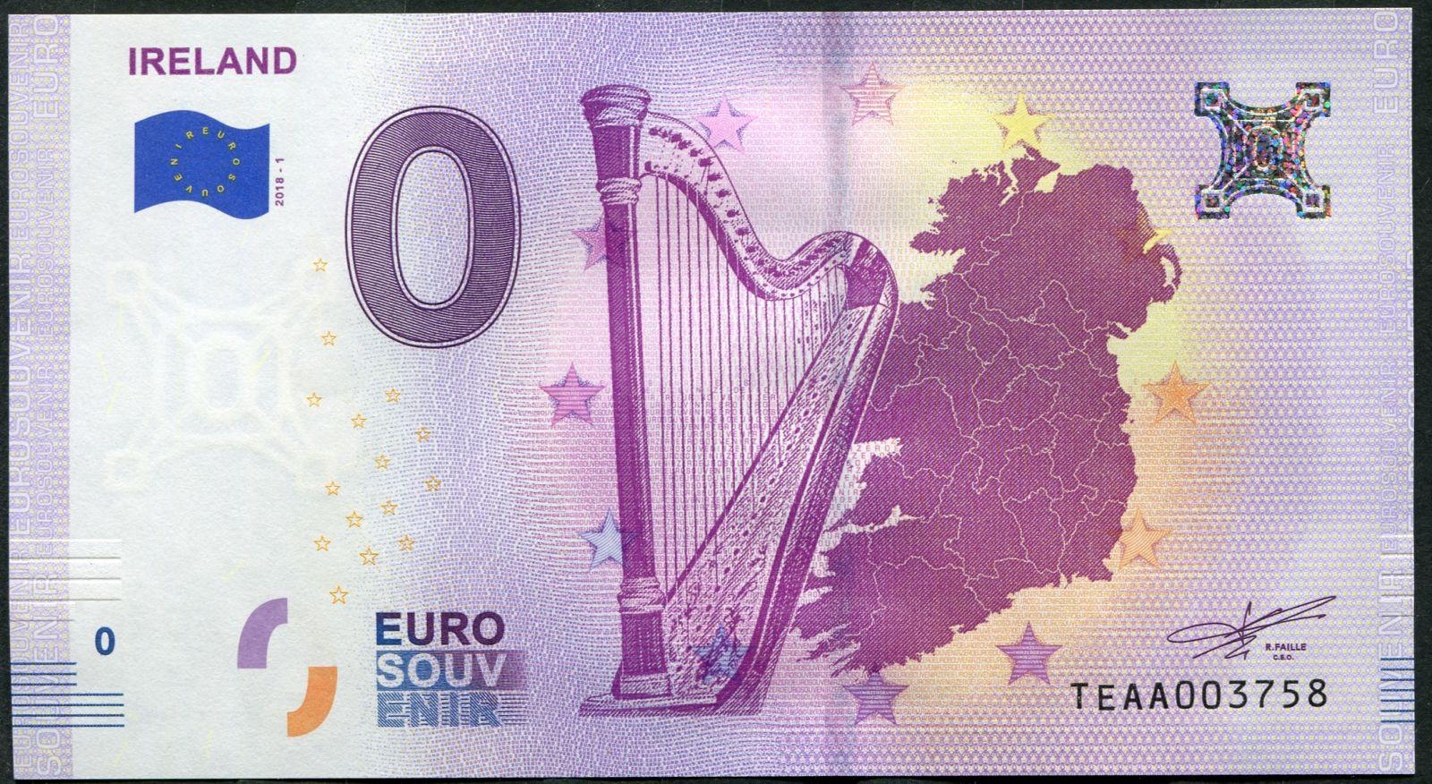 (2018-1) Irsko - € 0,- pamětní suvenýr