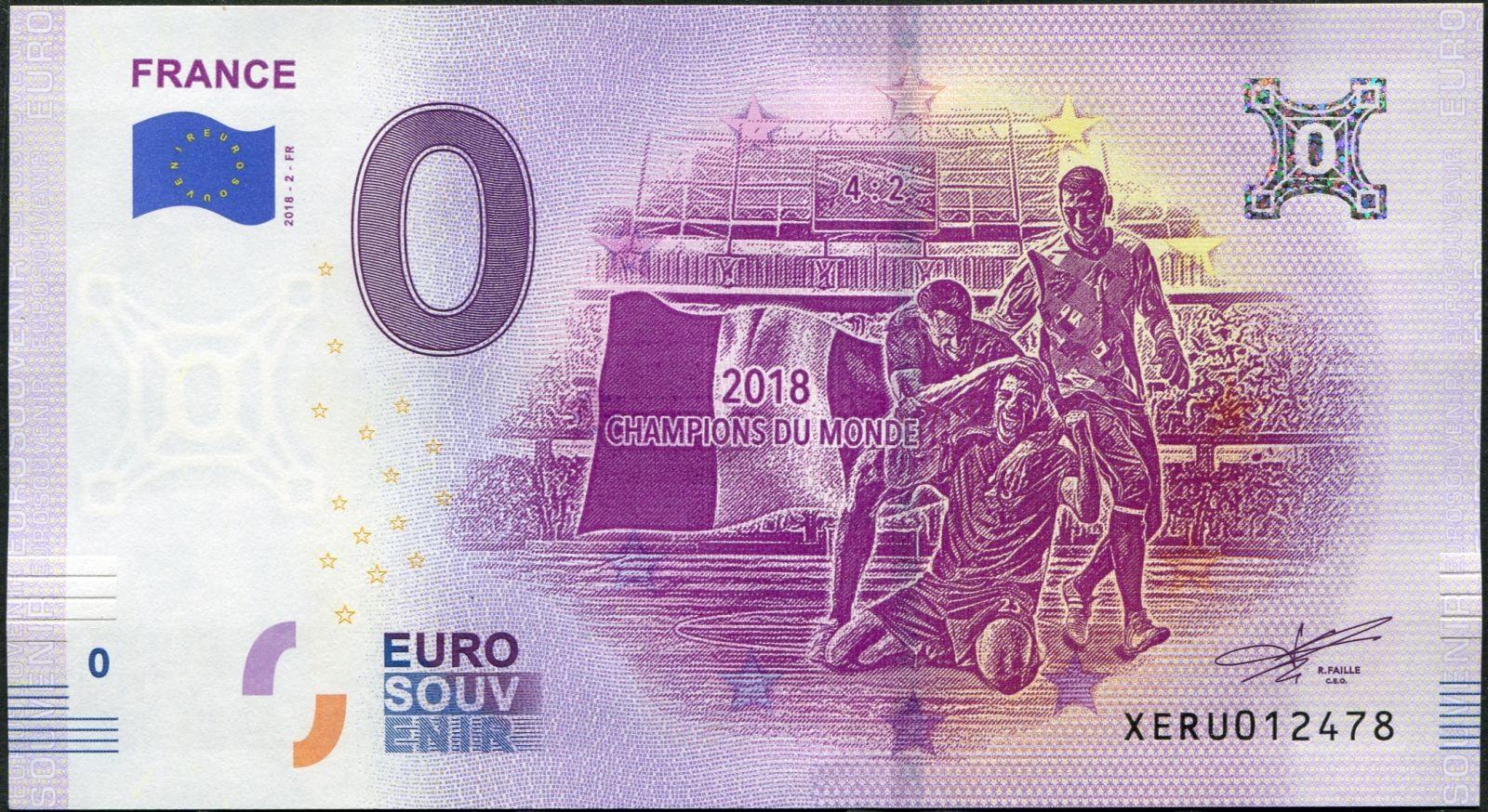 (2018-2-FR) Francie - Fotbal - € 0,- pamětní suvenýr