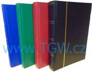 Zásobník BASIC - 3 x A4, 60 str., černé listy, průhledné pásky, nevat. desky - různé barvy