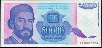 Jugoslávie - (P130a) 50.000 DINARA (1993) - UNC