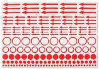 Leuchttrum červené označovací štítky (10 ks)