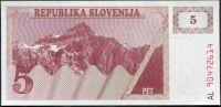 Slovinsko - (P 3) 5 Tolar (1990) - UNC
