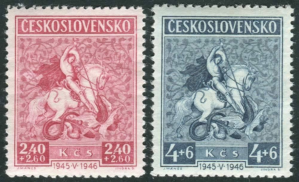(1946) č. 433-434 ** - Československo - sv. Jiří s drakem