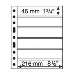 GRANDE listy 6S - černé (bal. 5 ks)