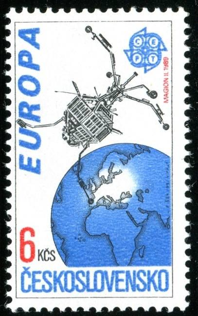 (1991) č. 2976 ** - ČSSR - Evropa ve vesmíru