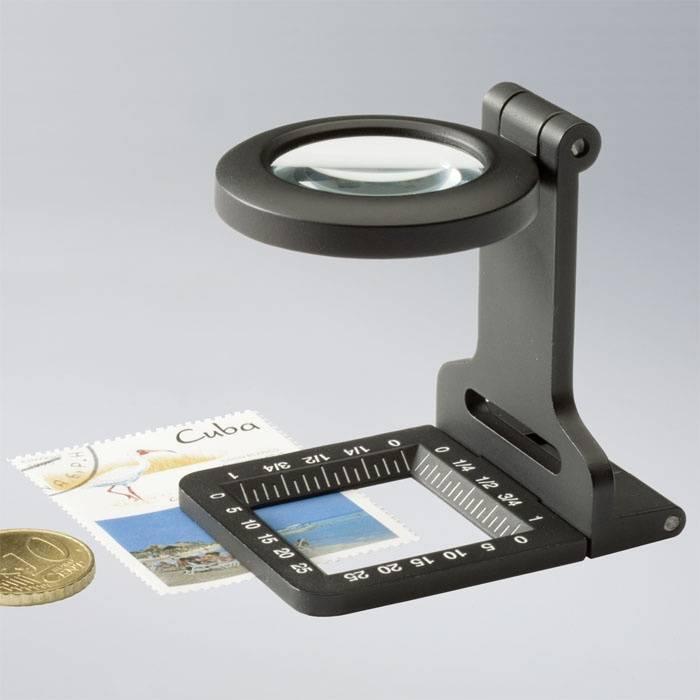 Skládací lupa 5x s měřítkem