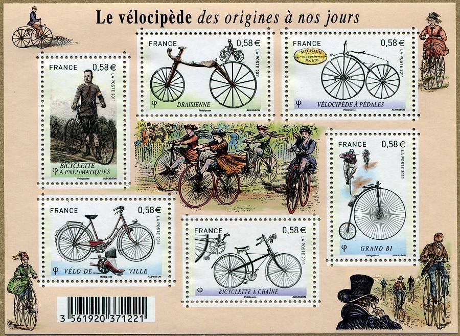 (2011) MiNr. 5129 - 5134 ** - Francie - BLOCK 153 - známky: historická kola