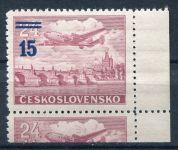 (1949) č. L 31a ** - ČSSR - KD - Letecké zn. - přetisková provizoria