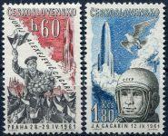 (1955) č. L 48 - 49 ** - ČSSR - Letecké známky - J. A. Gagarin