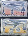 (1957) č. L 42 - 43 ** - ČSSR - Letecké známky - ČSA