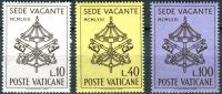 (1963) MiNr. 429 - 431 ** - Vatikán - Sede Vacante - Smrt papeže Jana XXIII. a volba jeho nástupce