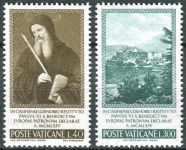 (1965) MiNr. 481 - 482 ** - Vatikán - Sv. Benedikt z Nursie