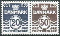 (1974) MiNr. 556 + 572 ** - Dánsko - SP - Vlnovky bez srdce