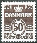 (1974) MiNr. 572 ** - Dánsko - Vlnovky bez srdce