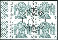 (1977) MiNr. 1100 O - Du+Do+Eor+Eru - Švýcarsko - 4-bl - tradice
