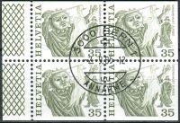 (1977) MiNr. 1103 O - Du+Do+Eor+Eru - Švýcarsko - 4-bl - tradice