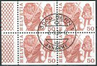 (1977) MiNr. 1105 O - Du+Do+Eor+Eru - Švýcarsko - 4-bl - tradice