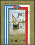 """(1978) MiNr. 2336 - Block 55 - O - Kuba - Mezinárodní výstava poštovních známek """"PRAGA '78"""", Praha"""