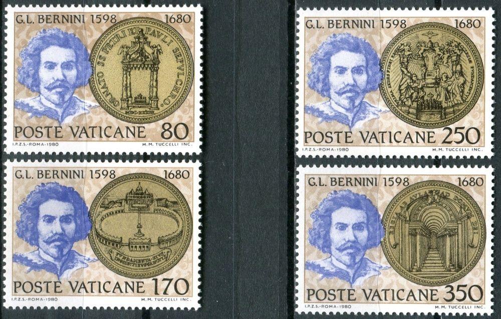 (1980) MiNr. 771 - 774 ** - Vatikán - 300. výročí úmrtí Gian Lorenza Berniniho