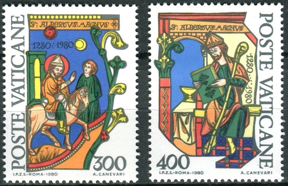 (1980) MiNr. 777 - 778 ** - Vatikán - 700. výročí úmrtí sv. Albertus Magnus