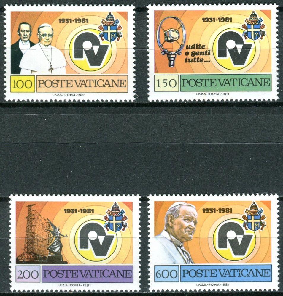 (1981) MiNr. 779 - 782 ** - Vatikán - 50 let Vatikánského rozhlasu