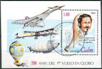 (1983) MiNr. 2731 - Block 76 - O - Kuba - 200 Jahre Luftfahrt