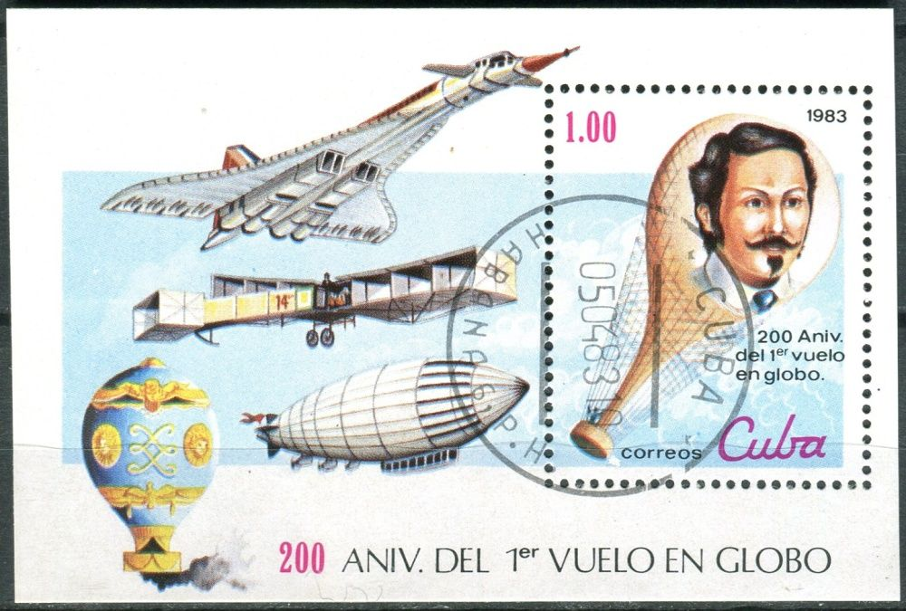 (1983) MiNr. 2731 - Block 76 - O - Kuba - 200 let letectví