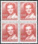(1985) MiNr. 823 ** - Dánsko - 4-bl - Královna Margrethe II