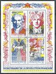 (1990) MiNr. 2803 - 2806 - O - Francie - 200. výročí francouzské revoluce (1989) - významné osobnost