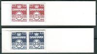 (1990) MiNr. 2x 964 + 2 x 1028 ** - Dánsko - ZS - Vlnovky bez srdce
