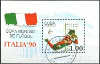 (1990) MiNr. 3362 - Block 117 - O - Kuba - Mistrovství světa ve fotbale, Itálie