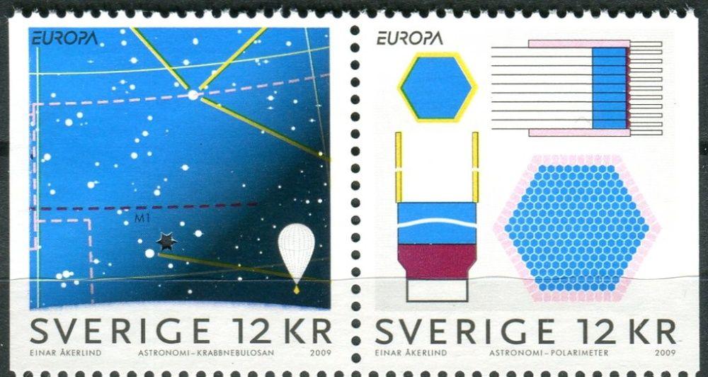 (2009) MiNr. 2687 - 2688 ** - Švédsko - Europa: astronomie - Dr + Dl