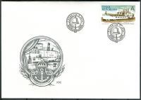 (2018) FDC 973 - Česká republika - Kolesový parník Vltava