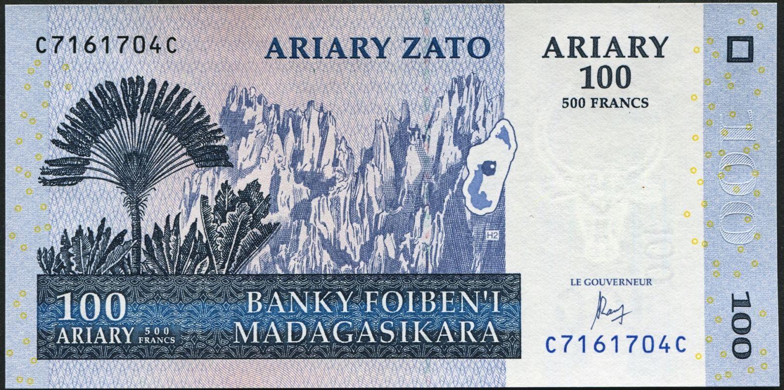 Madagaskar - (P 86c) 100 Ariary (2004) - UNC