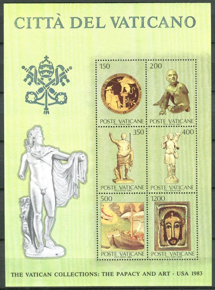 (1983) MiNr. 836 - 841 ** - BLOCK 7 - Vatikán - Výstava vatikánských uměleckých děl ve Spojených státech amerických (III)