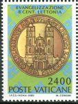 (1987) MiNr. 912 ** - Vatikán - 800. výročí křesťanské činnosti v Lotyšsku