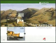(2017) MiNo. 371 - 372 ** - Portugal Madeira - BLOCK 67 - Europa: castles and palaces