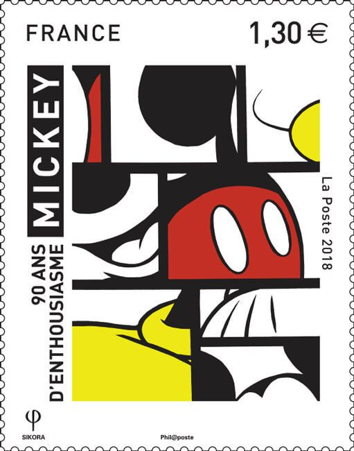 (2018) MiNr. 7112 ** - Francie - Mládež: 90 let Mickey Mouse