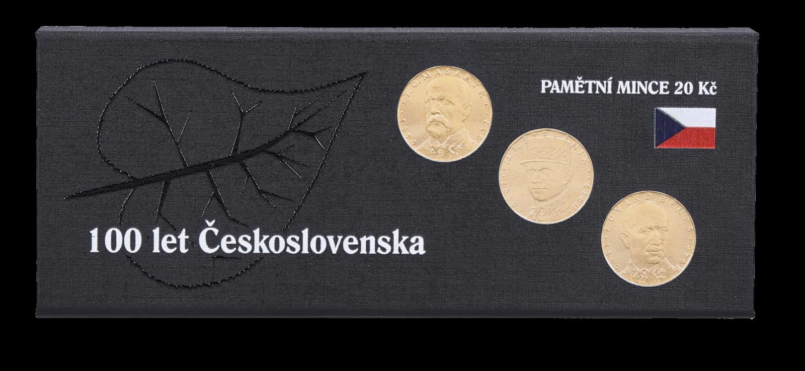 Mincovní kazeta na příl. mince 20 Kč - Česká republika + 3 kapsle QUADRUM